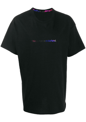 F.A.M.T. printed quote t-shirt - Black