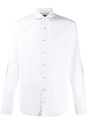 Hackett contrast elbow patches shirt - White