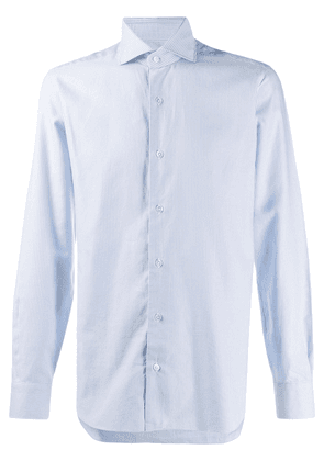 Barba pinstriped button down shirt - Blue
