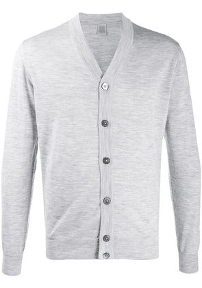 Eleventy long-sleeve fitted cardigan - Grey