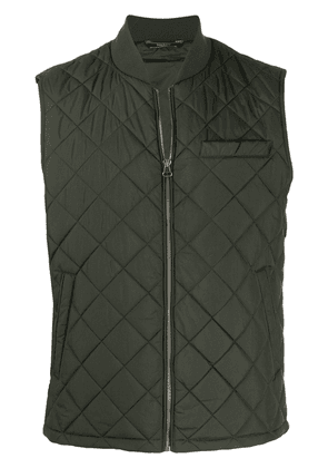 Hackett quilted padded vest - Green
