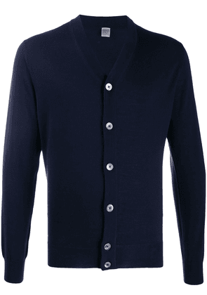 Eleventy long-sleeve fitted cardigan - Blue