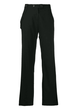 Cotélac straight buttoned trousers - Black