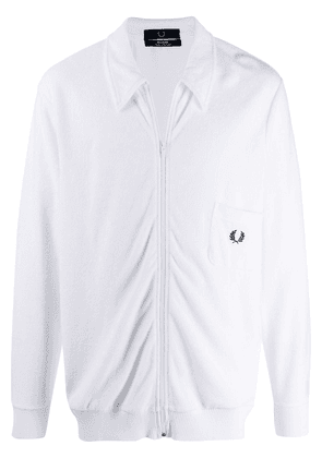 Fred Perry Towelling Track Jacket - White