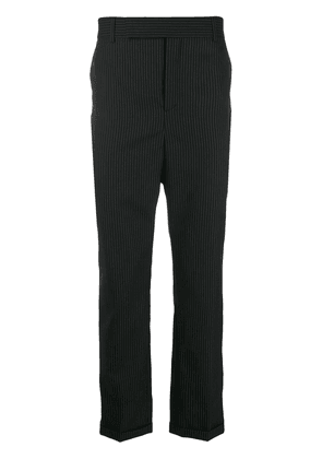 Saint Laurent pinstriped tapered trousers - Black