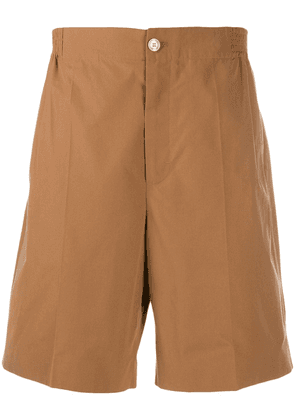 Gucci pleated bermuda shorts - Brown