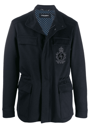 Dolce & Gabbana embroidered-badge field jacket - Blue