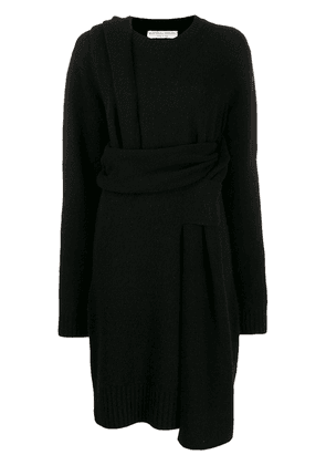 Bottega Veneta deconstructed wrap dress - Black