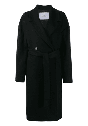 Dondup belted double-breasted coat - Black