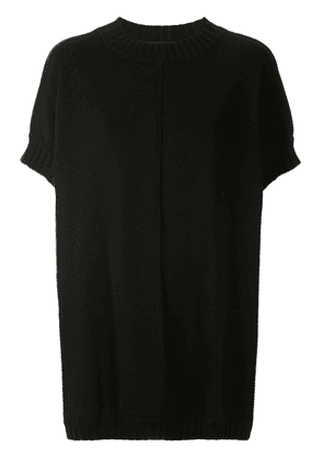 Gloria Coelho oversized knit cape - Black