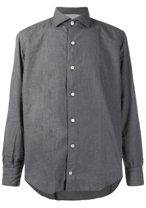 Eleventy long-sleeve fitted shirt - Grey