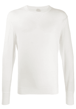 Eleventy long-sleeve fitted sweater - White
