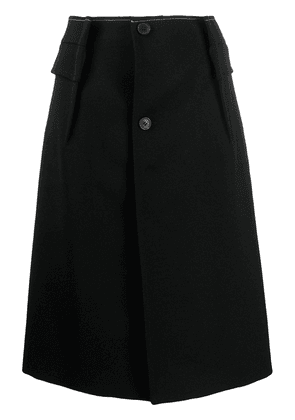 Maison Margiela A-line patch pocket skirt - Black