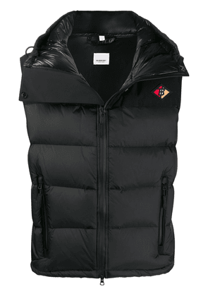 Burberry hooded puffer gilet - Black
