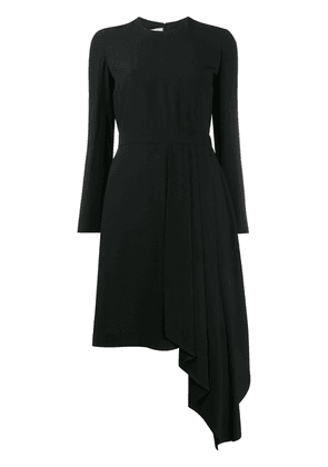 Gucci draped detail asymmetric dress - Black