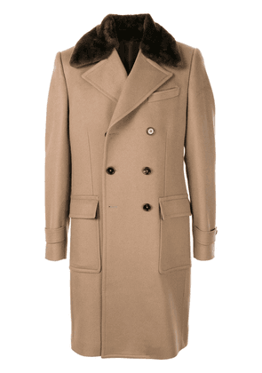 Dolce & Gabbana double-breasted cashmere coat - Brown