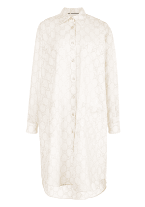 Gucci oversized GG broderie anglaise shirt - White