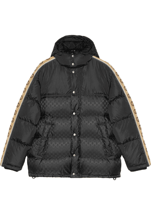 Gucci monogram pattern padded coat - Black