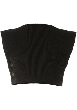 Gloria Coelho knitted crop top - Black