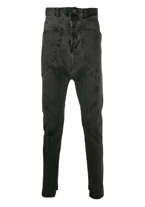 10Sei0otto slim-fit dropped-crotch jeans - Black