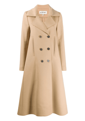 Loewe double-breasted swing coat - Neutrals