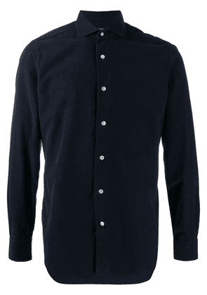 Barba brushed corduroy shirt - Blue