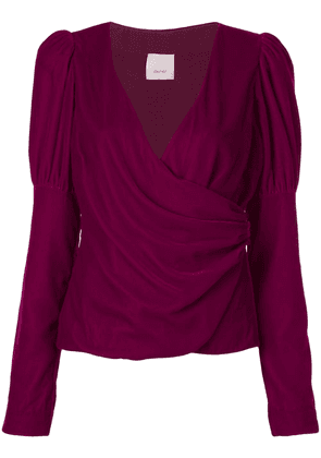 Cinq A Sept Theo wrap-style top - PURPLE