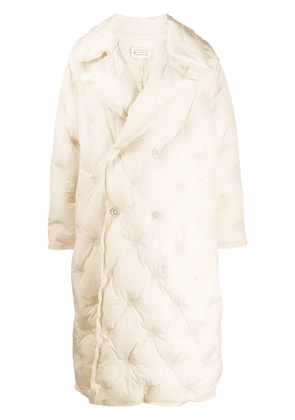 Maison Margiela quilted long coat - NEUTRALS
