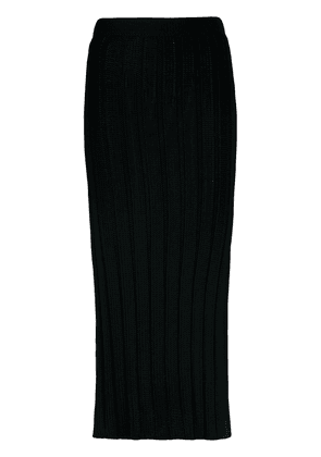 Esteban Cortazar knitted midi pencil skirt - Blue