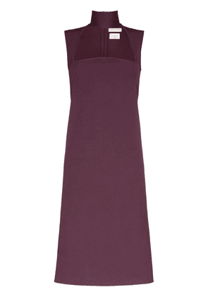 Bottega Veneta High-neck cutout dress - Purple