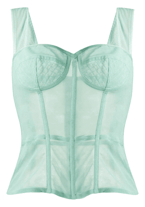 Dolce & Gabbana bustier fitted top - Green
