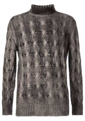 Avant Toi cable-knit jumper - Grey
