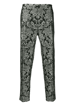 Dolce & Gabbana embroidered brocade tailored trousers - Black