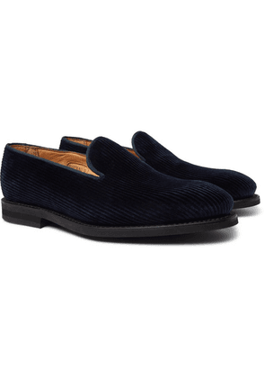 George Cleverley - Positano Cotton-corduroy Loafers - Navy