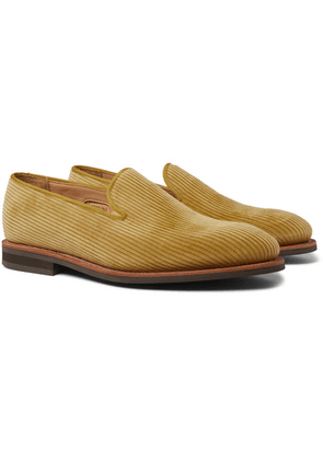 George Cleverley - Positano Cotton-corduroy Loafers - Yellow