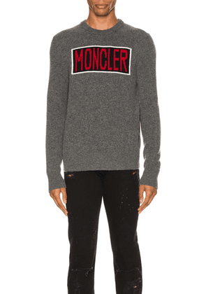 Moncler Knit Crewneck Sweater in Grey - Gray. Size S (also in XL).