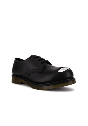 Raf Simons x Dr. Martens Cut Out Steel Toe Shoes in Black - Black. Size 8 (also in 9,10,11,12).