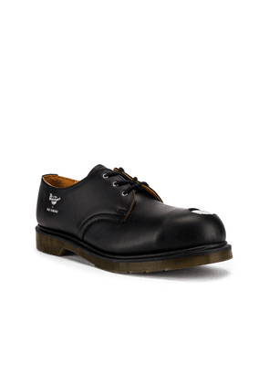 Raf Simons x Dr. Martens Asymmetric Cut Out Steel Shoe in Black - Black. Size 9 (also in 10,11,12).