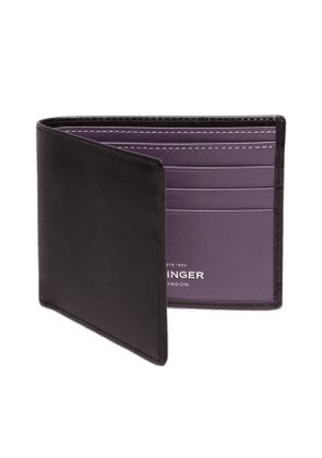 Black and Purple Billfold Wallet with 6 C/C, Sterling Collection