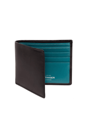Black and Turquoise Billfold Wallet with 6 C/C, Sterling Collection