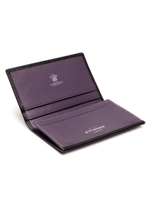 Black and Purple Visiting Card Case, Sterling Collection