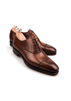 Brown Vegano Leather Brogue Oxfords