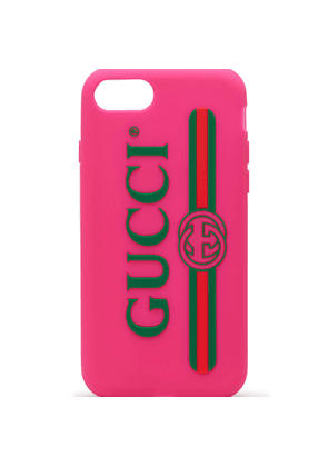 Rubber iPhone 7 case with Gucci logo