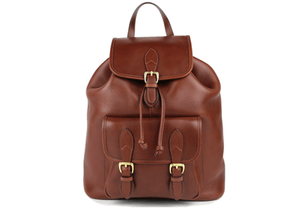Chestnut Classic Leather Backpack
