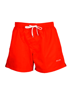 Red Fast-Dry Polyester Swimming Shorts