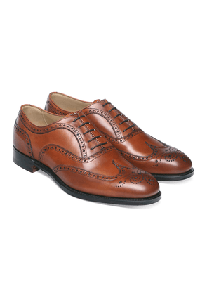 Burnished Dark Leaf Calf Leather Brogues