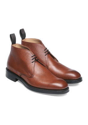 Mahogany Grained Leather Jackie Chukka Boots