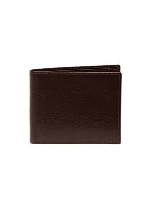 Chocolate Brown Goat Leather Billfold Wallet