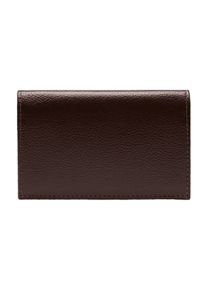 Chocolate Brown Goat Leather Card Case