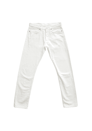 White 11.6oz Cotton Japanese Selvedge Denim Jeans